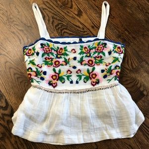 Anthropologie Embroidered Tank Top - NEW